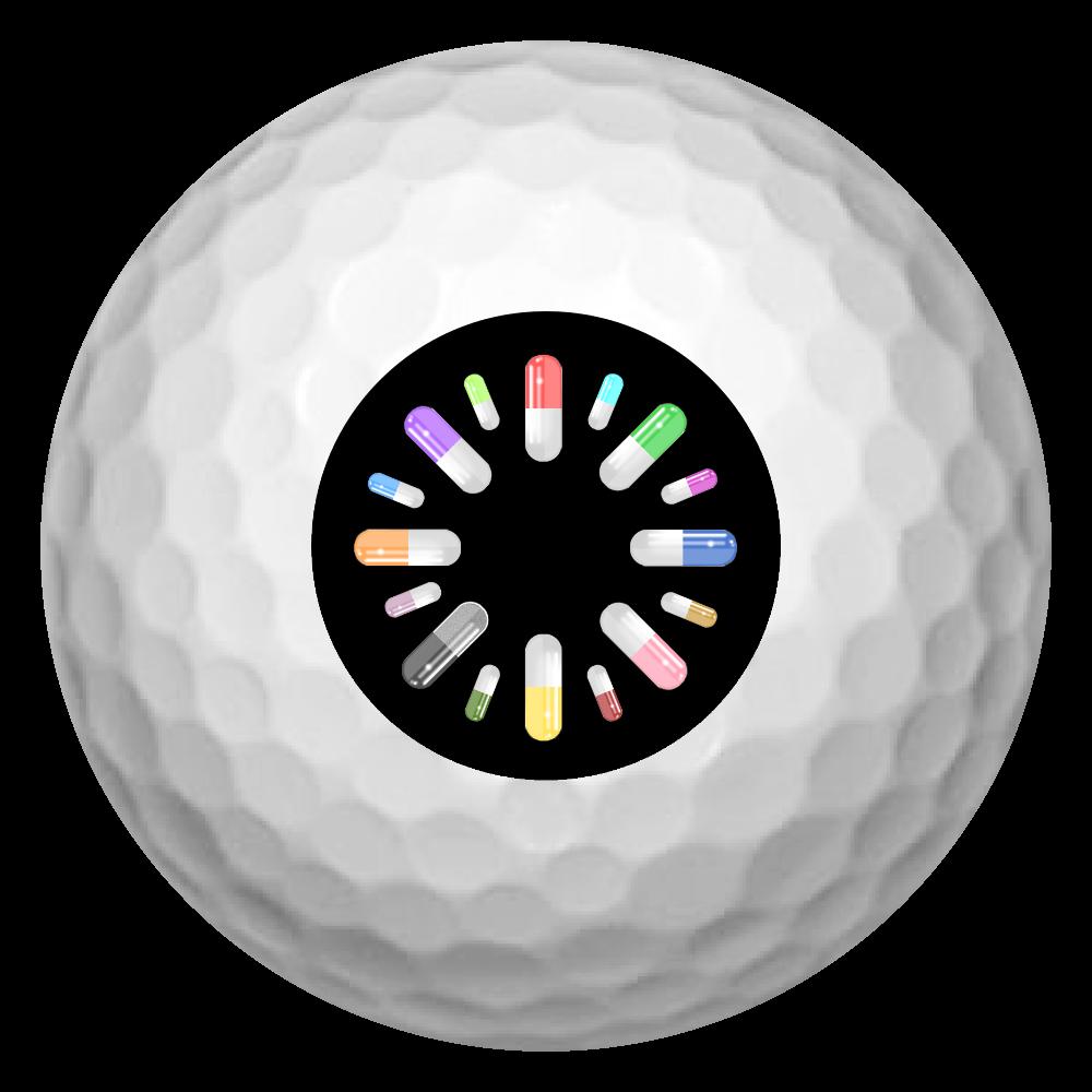 カプセル ゴルフボール ゴルフボール(3個セット)