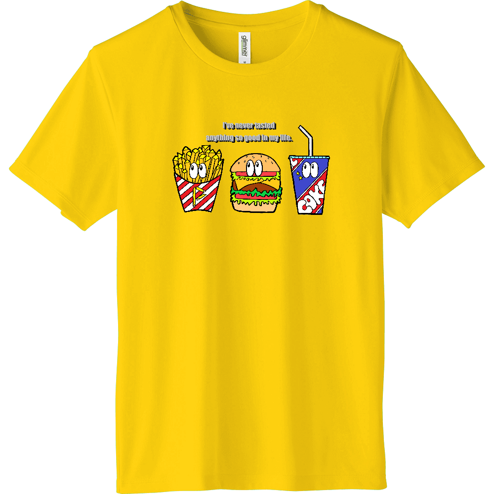 ジャンクフード/カラー インターロックドライTシャツ