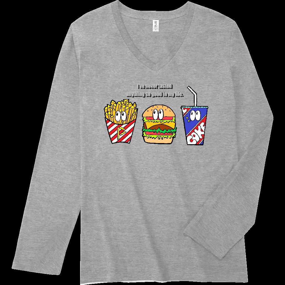 ジャンクフード/カラー スリムフィット VネックロングスリーブTシャツ
