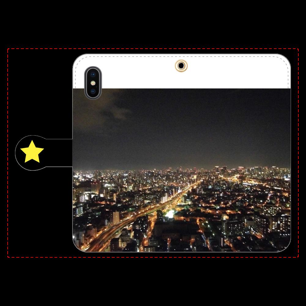 100万ドルの夜景 手帳型iPhoneX/Xs iPhoneX/Xs 手帳型スマホケース