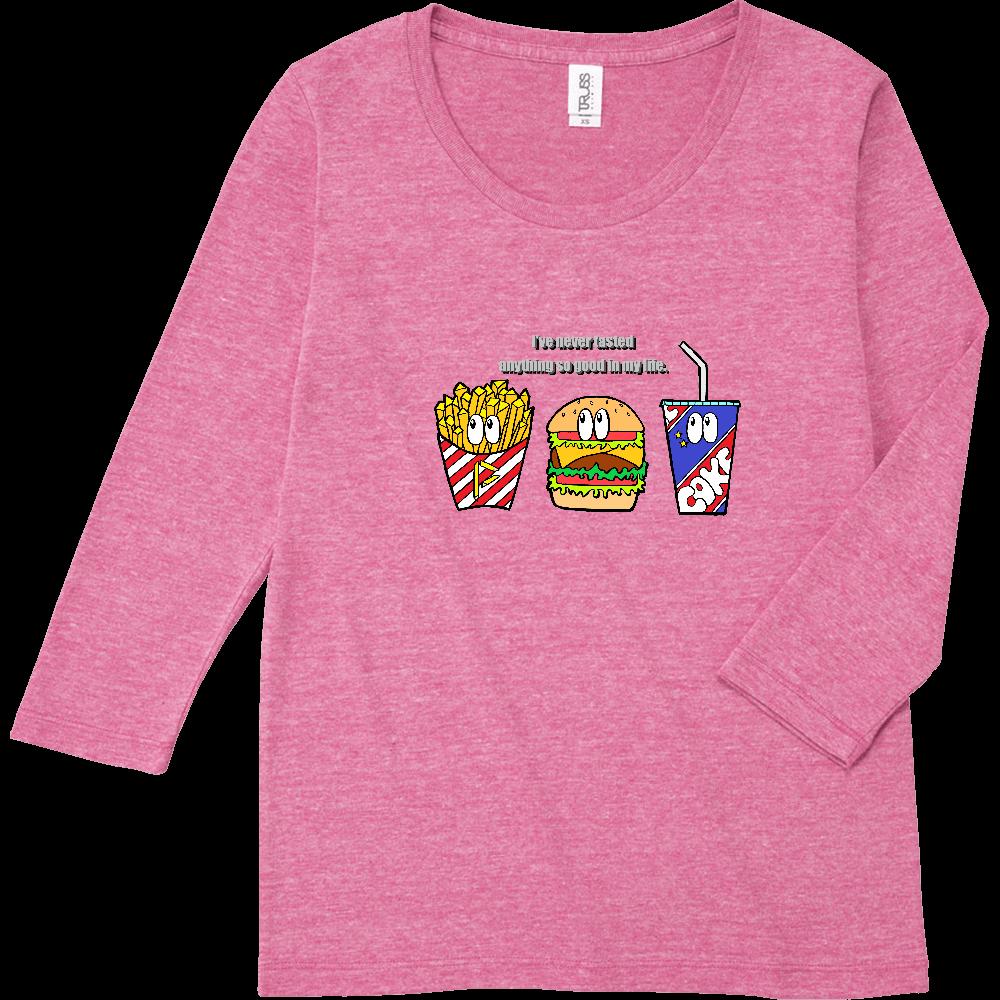 ジャンクフード/カラー トライブレンド7分袖レディースTシャツ