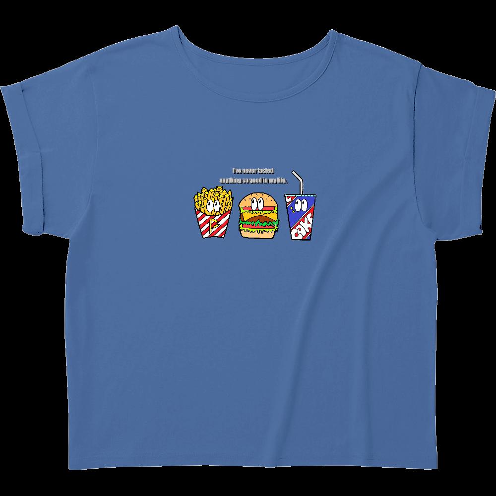 ジャンクフード/カラー ウィメンズ ロールアップ Tシャツ