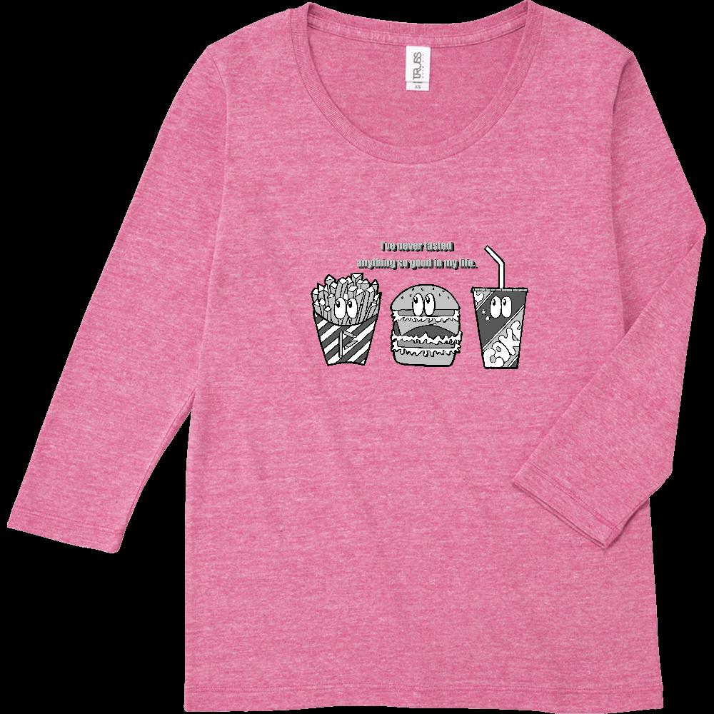 ジャンクフード/モノクロ トライブレンド7分袖レディースTシャツ