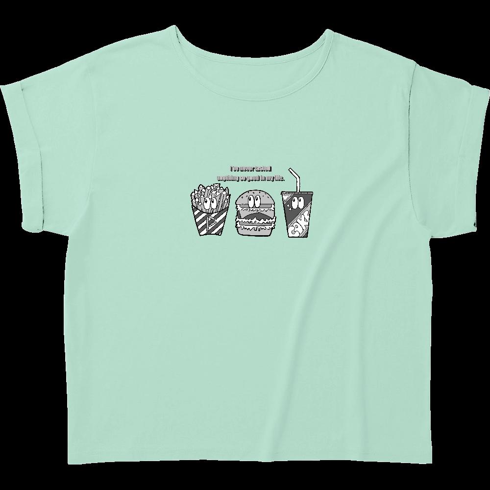 ジャンクフード/モノクロ ウィメンズ ロールアップ Tシャツ