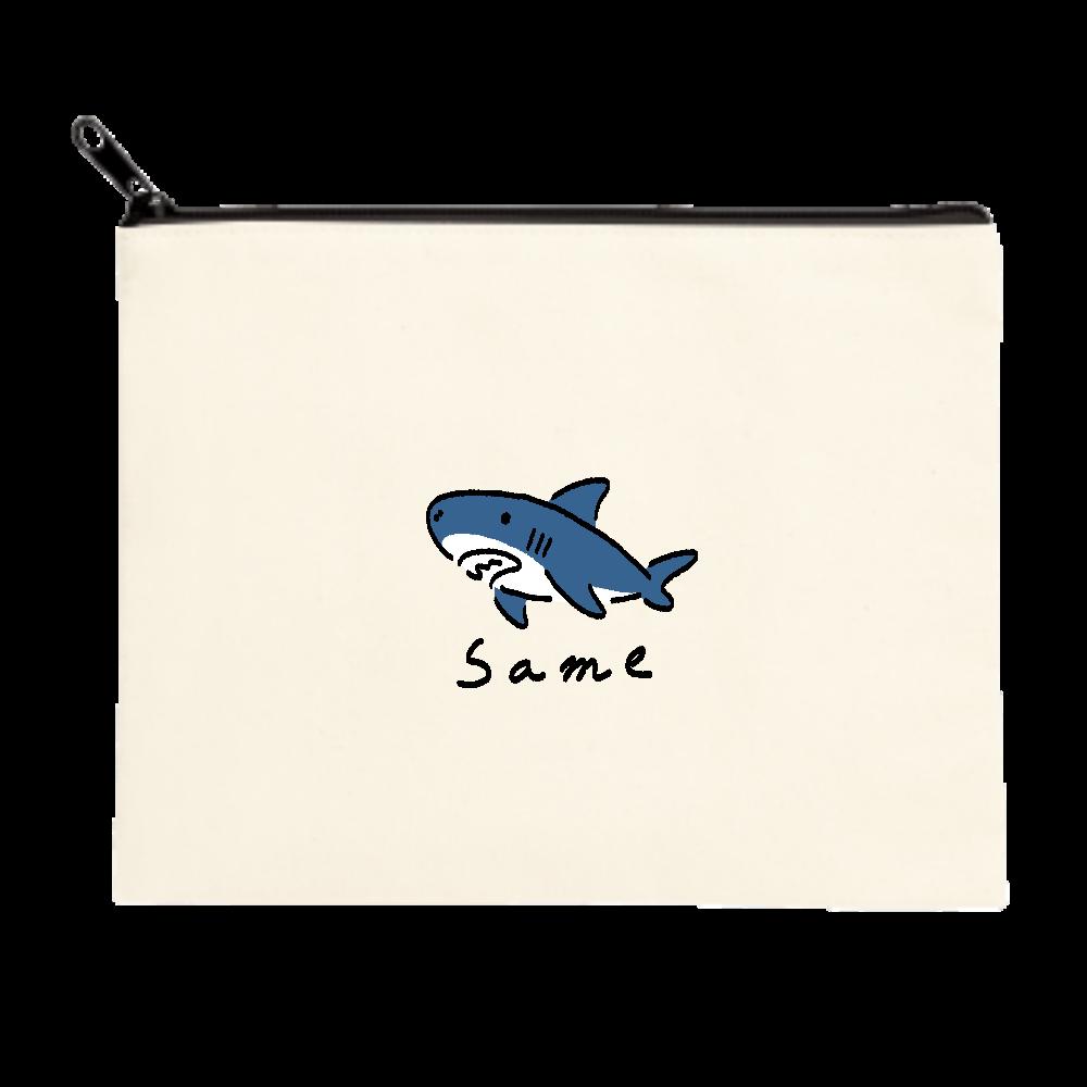 いたってシンプルなサメ ポーチ(M)