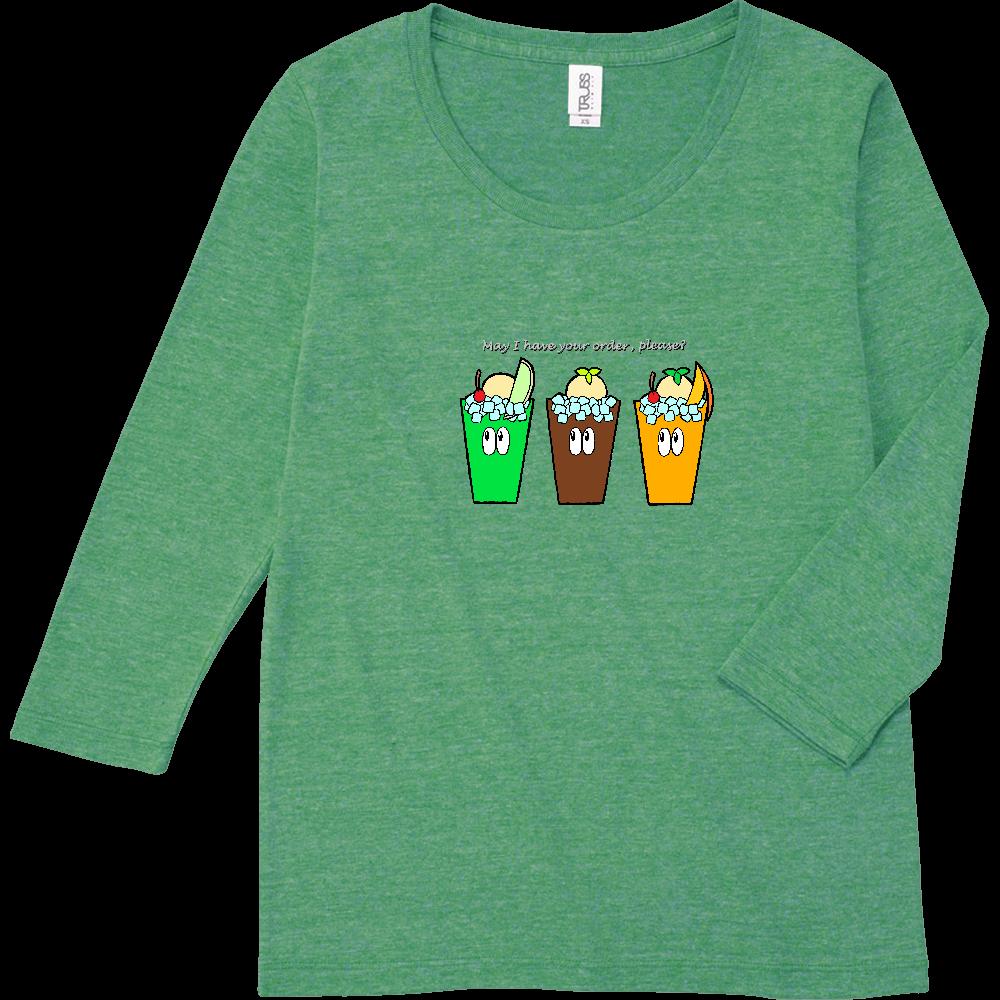 ドリンク/モンスター トライブレンド7分袖レディースTシャツ