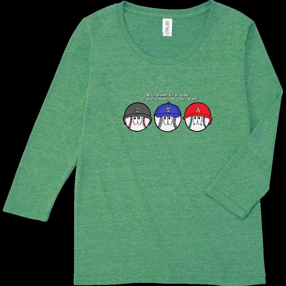 ベースボール/モンスター トライブレンド7分袖レディースTシャツ