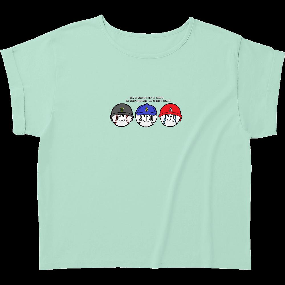 ベースボール/モンスター ウィメンズ ロールアップ Tシャツ