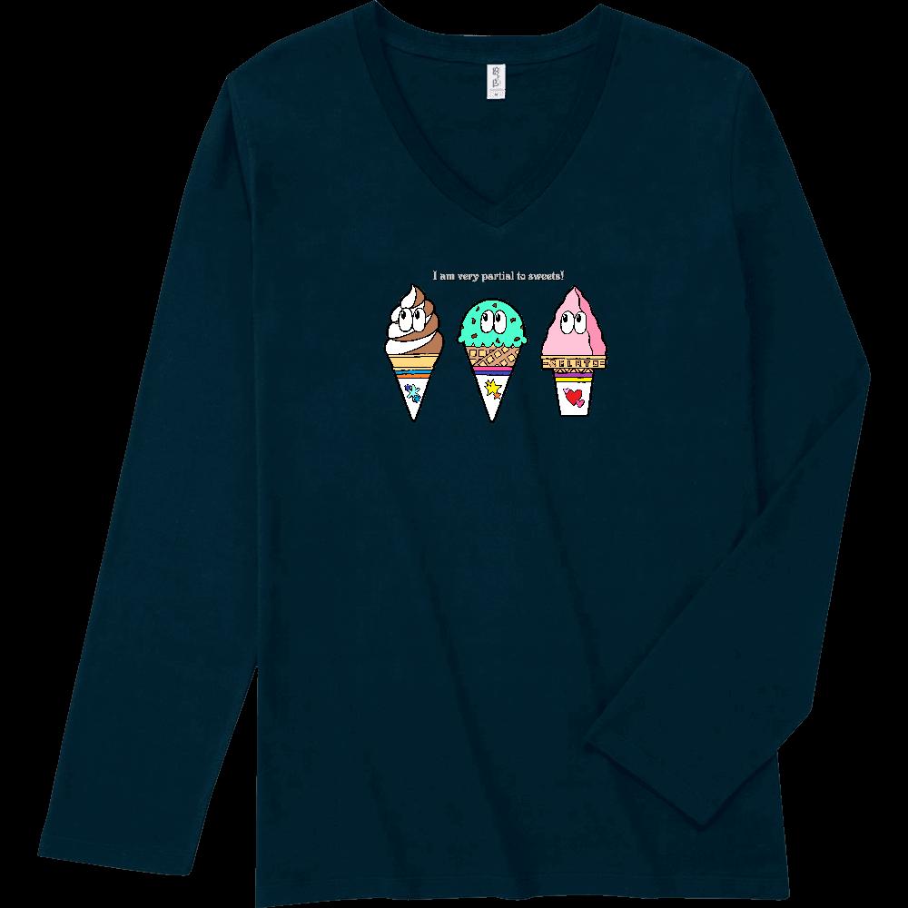 アイス/モンスター スリムフィット VネックロングスリーブTシャツ
