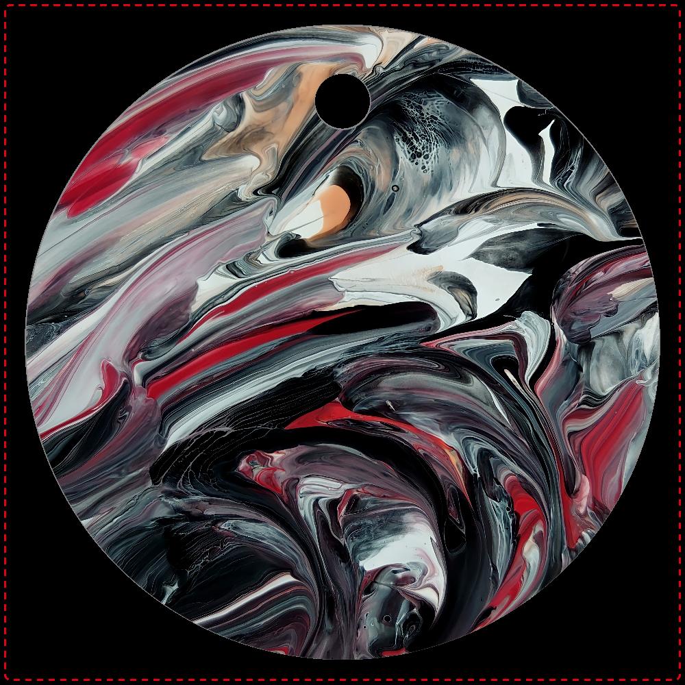【莢蒾(ガマズミ)】キーホルダー レザーキーホルダー(丸型)
