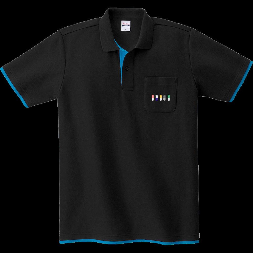 カプセル ポロシャツ レイヤードポロシャツ
