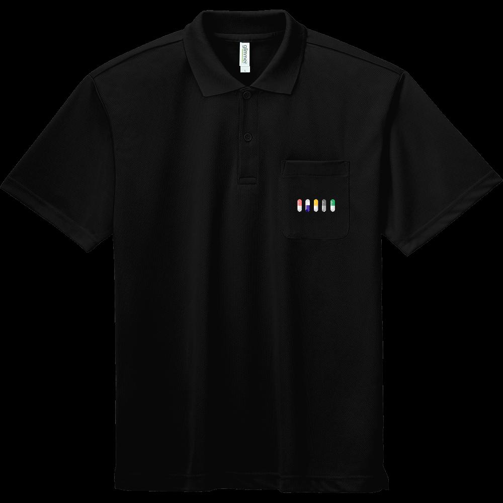 カプセル ポロシャツ ドライポロシャツ(ポケット付き)