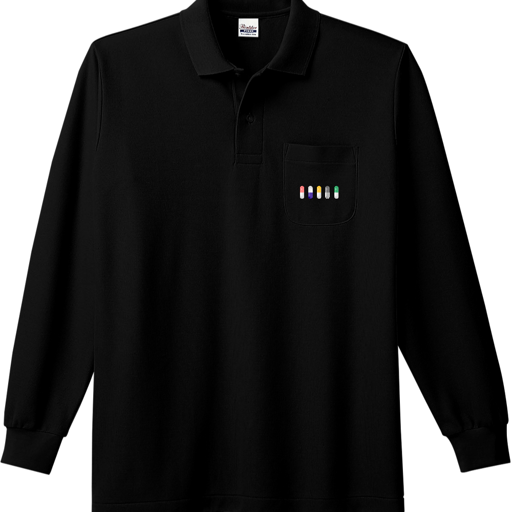カプセル ポロシャツ 長袖ポロシャツ(ポケット付き)
