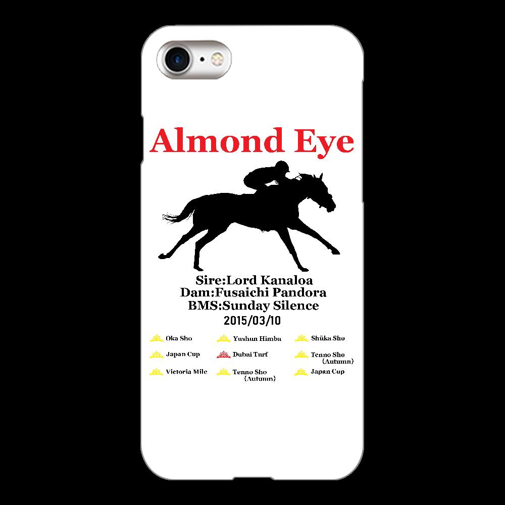 アーモンドアイ引退記念 スマホケース 透明 iPhone8(透明)
