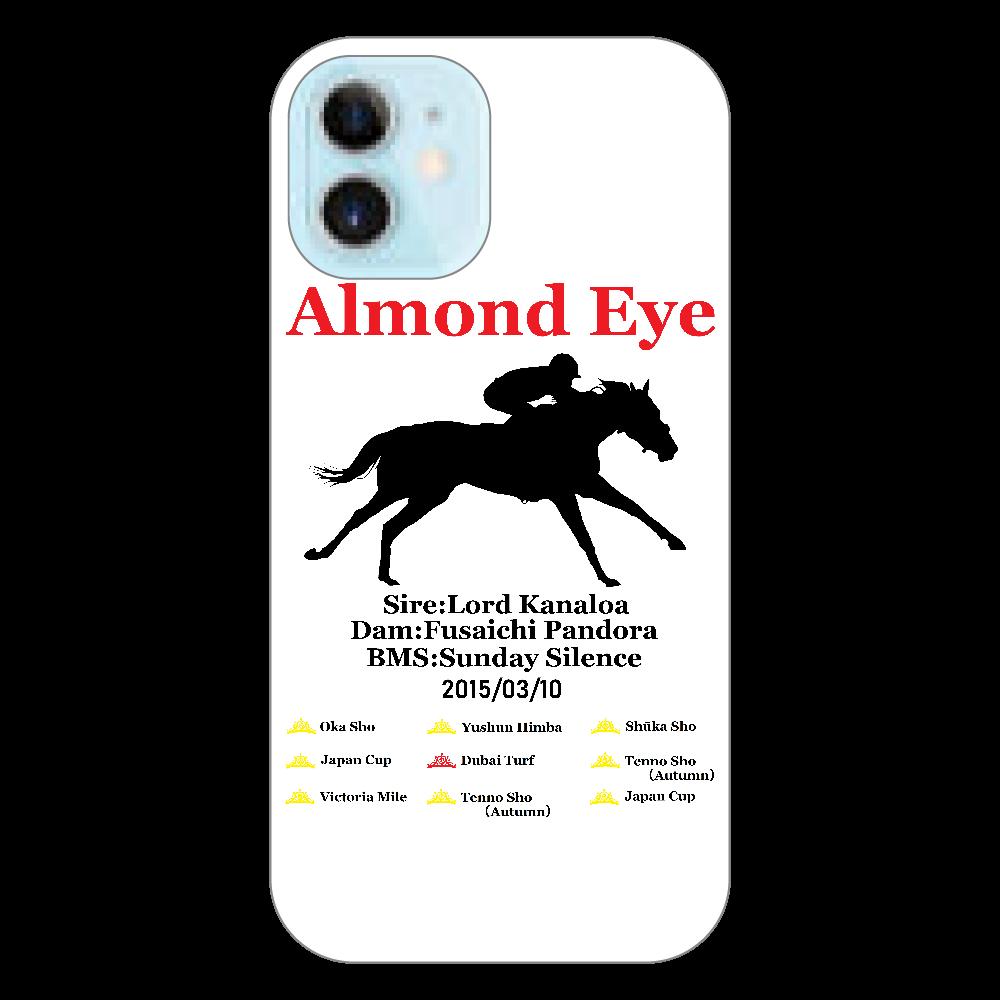 アーモンドアイ引退記念 スマホケース ホワイト iPhone12 mini