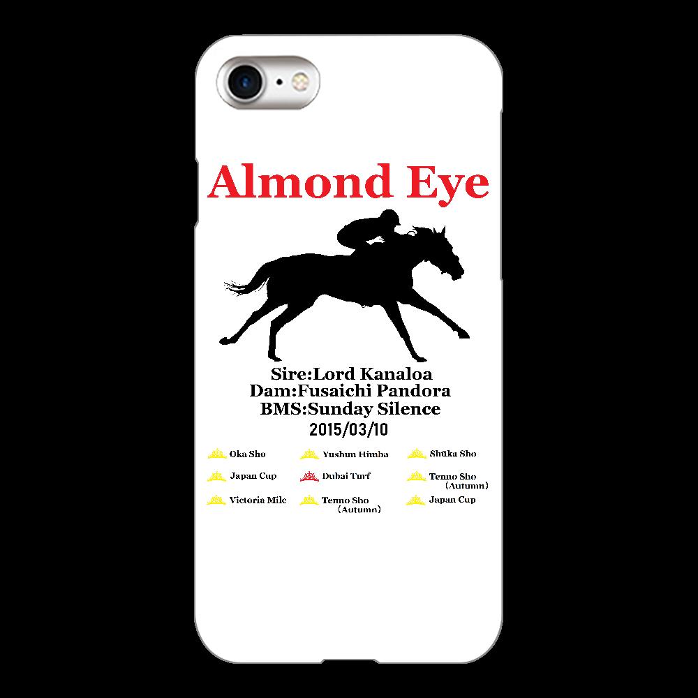 アーモンドアイ引退記念 スマホケース ホワイト iPhone8(白)