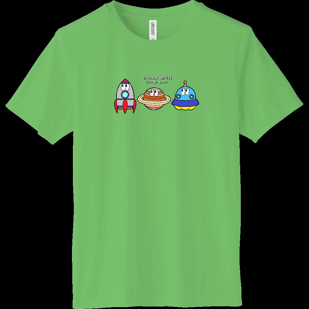 宇宙/モンスター インターロックドライTシャツ