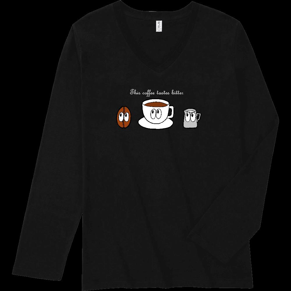 コーヒー/モンスター スリムフィット VネックロングスリーブTシャツ