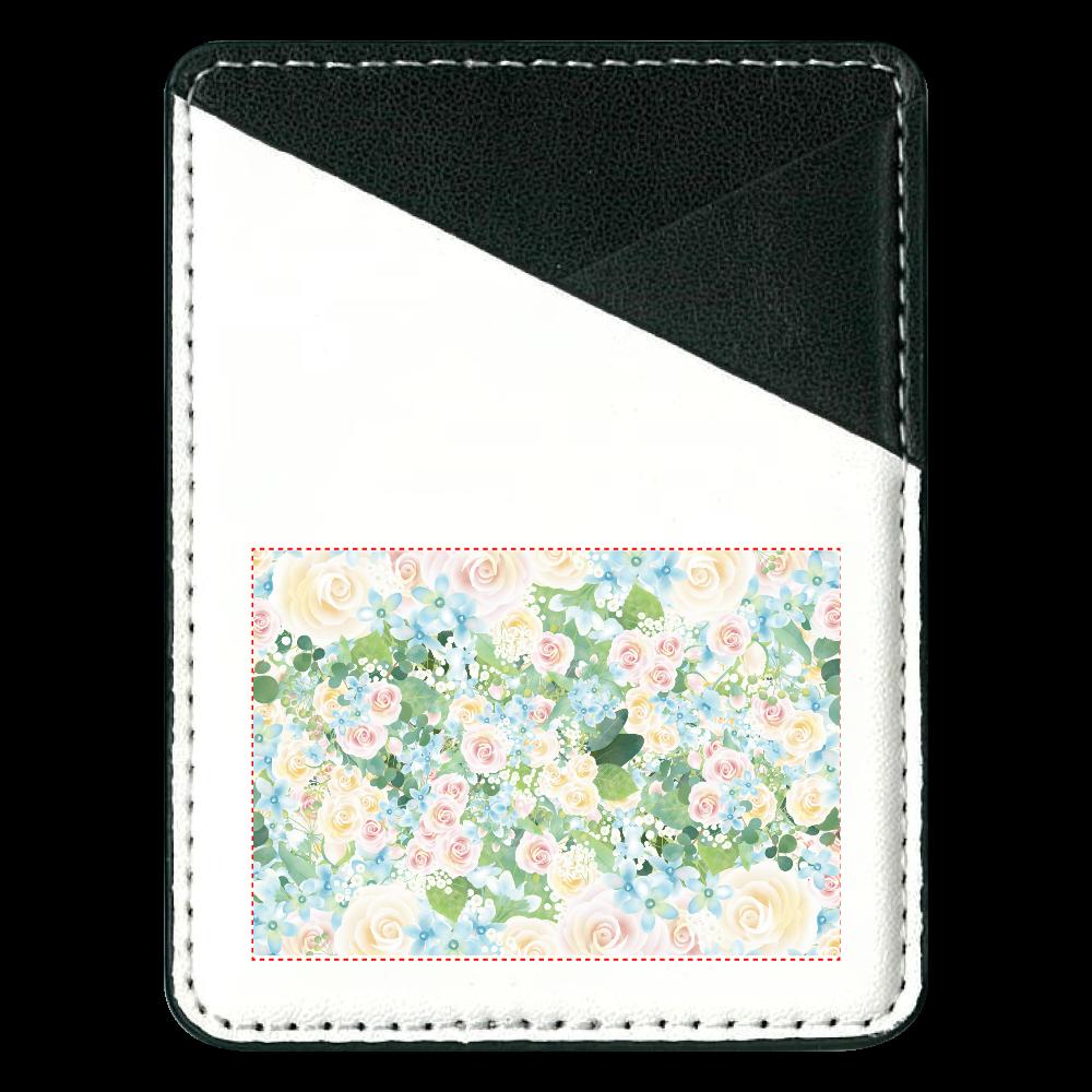 お花パスケース 貼り付けパスケース(スマホ用)