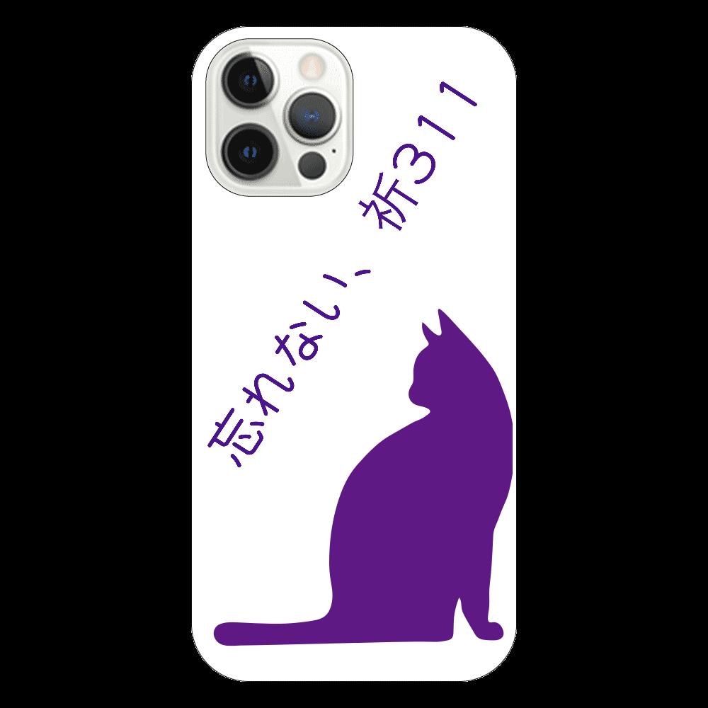 猫の祈311 表面のみ印刷iPhoneケースiPhone12 Pro(透明) iPhone12 Pro(透明)