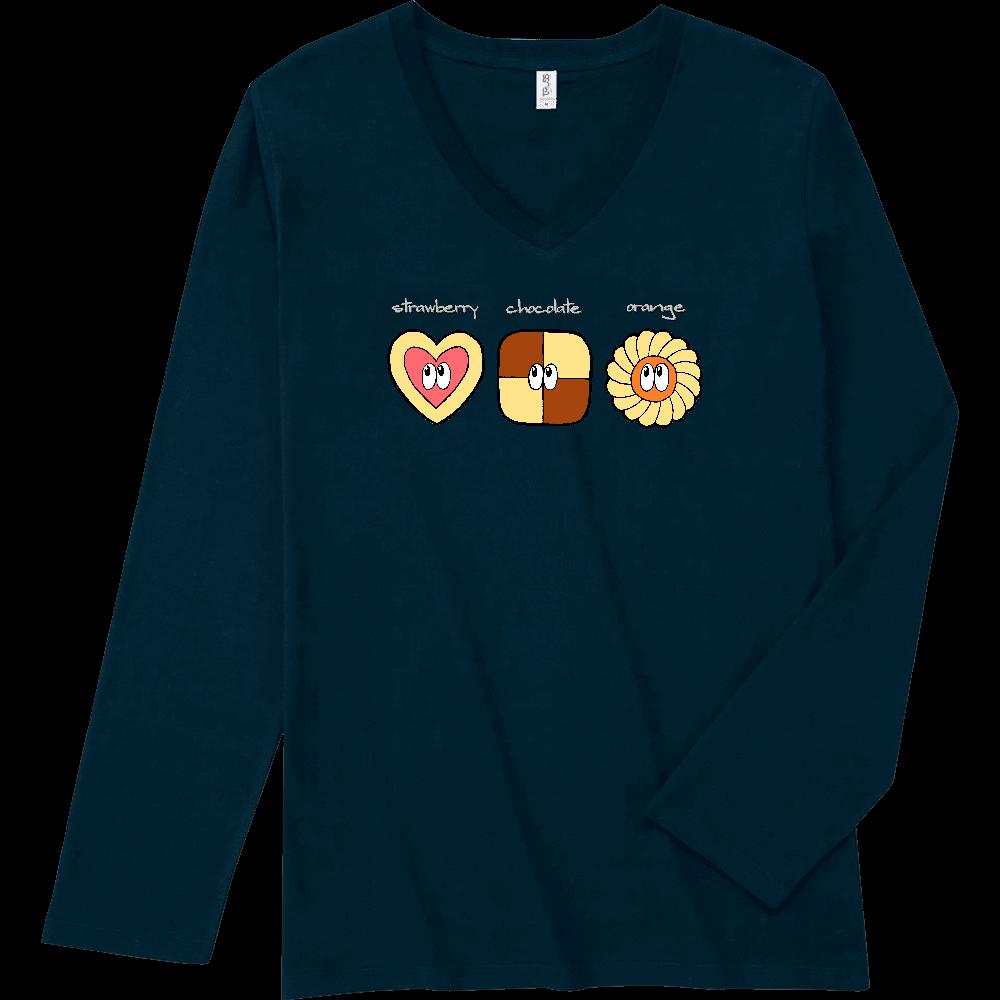 クッキー/モンスター スリムフィット VネックロングスリーブTシャツ