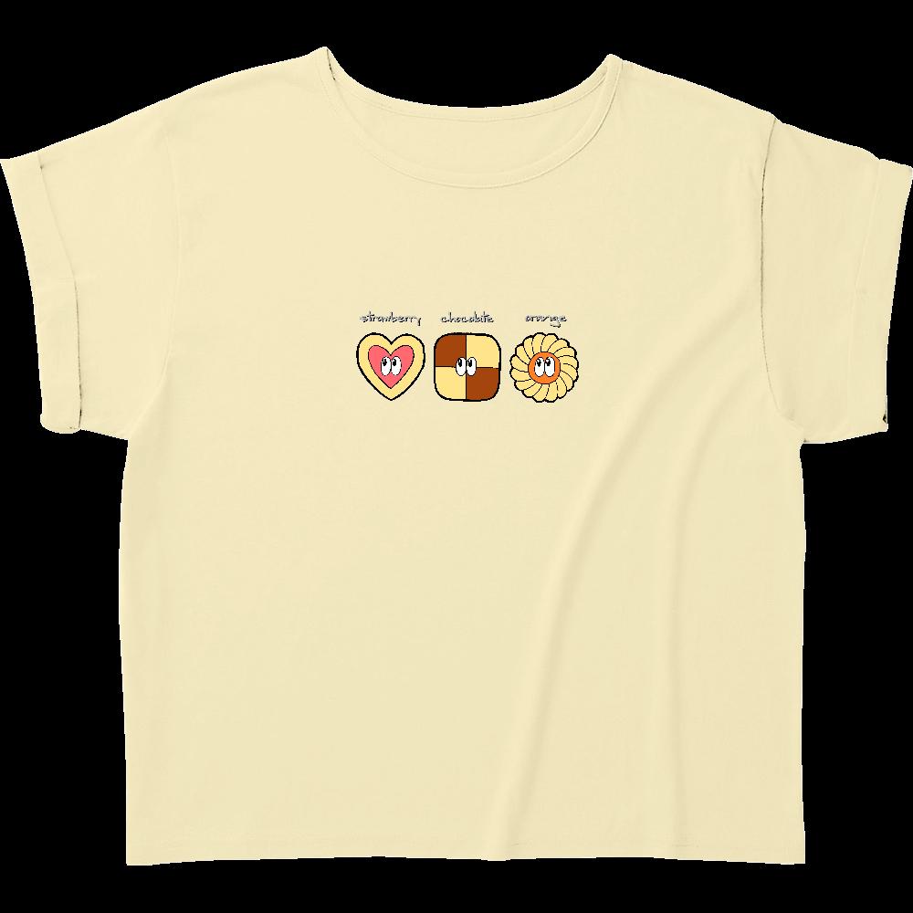 クッキー/モンスター ウィメンズ ロールアップ Tシャツ