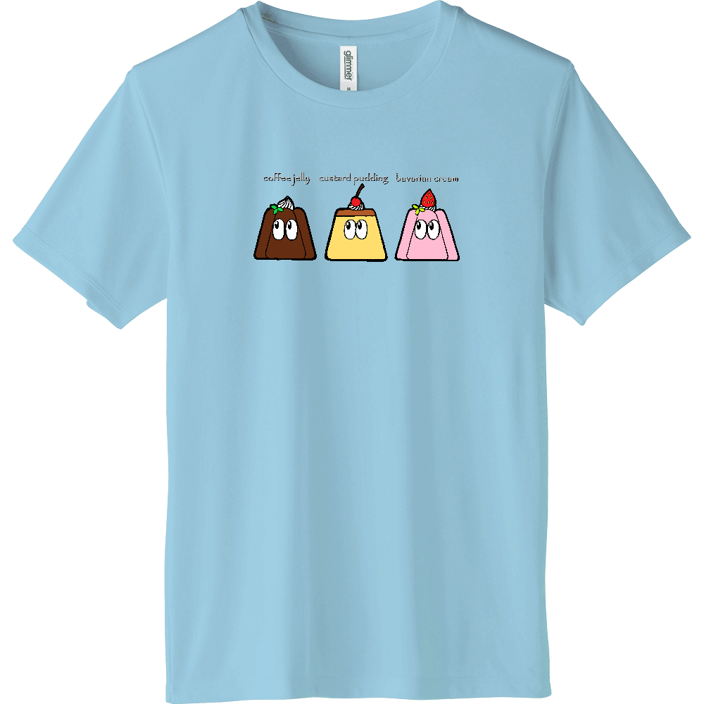 デザート/モンスター インターロックドライTシャツ
