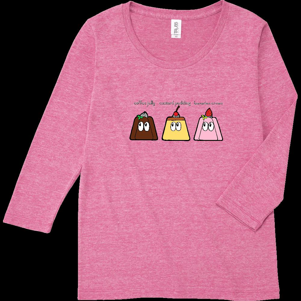 デザート/モンスター トライブレンド7分袖レディースTシャツ