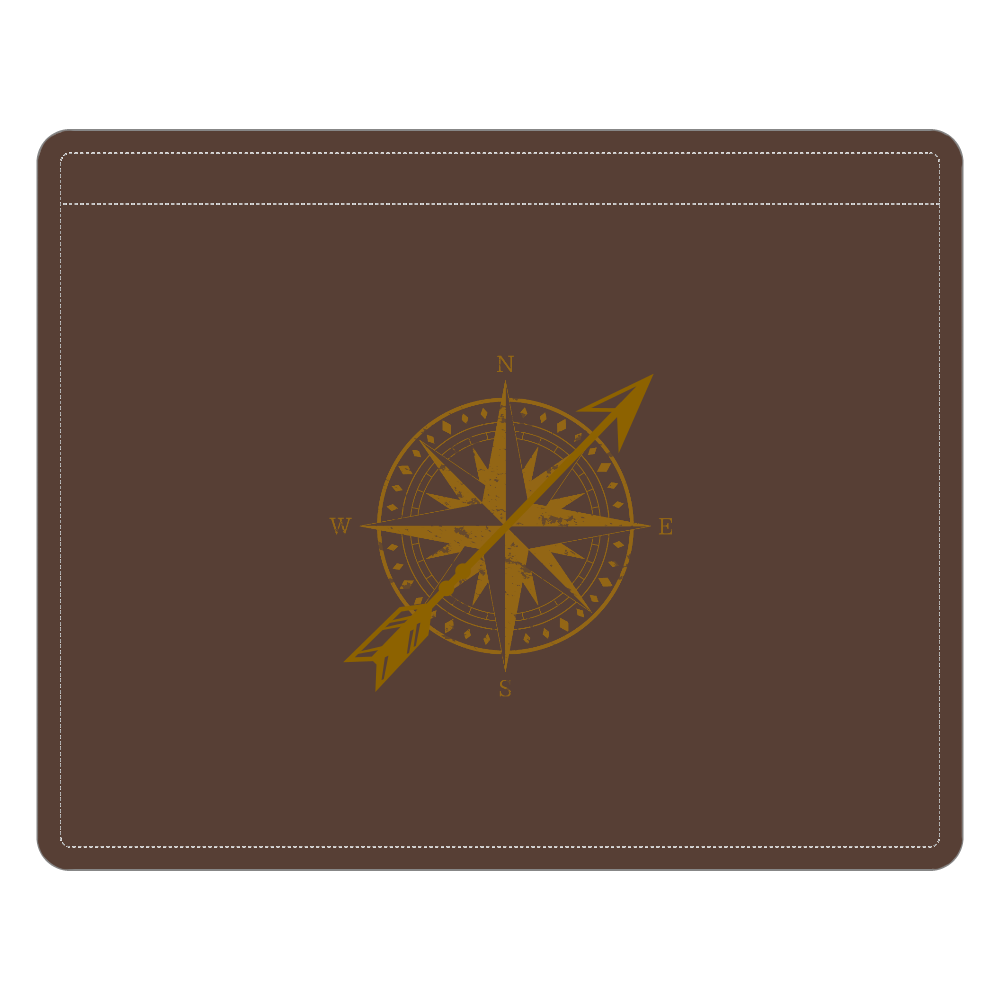 羅針盤パスケース レザーIDカードホルダー(ネックストラップ付)