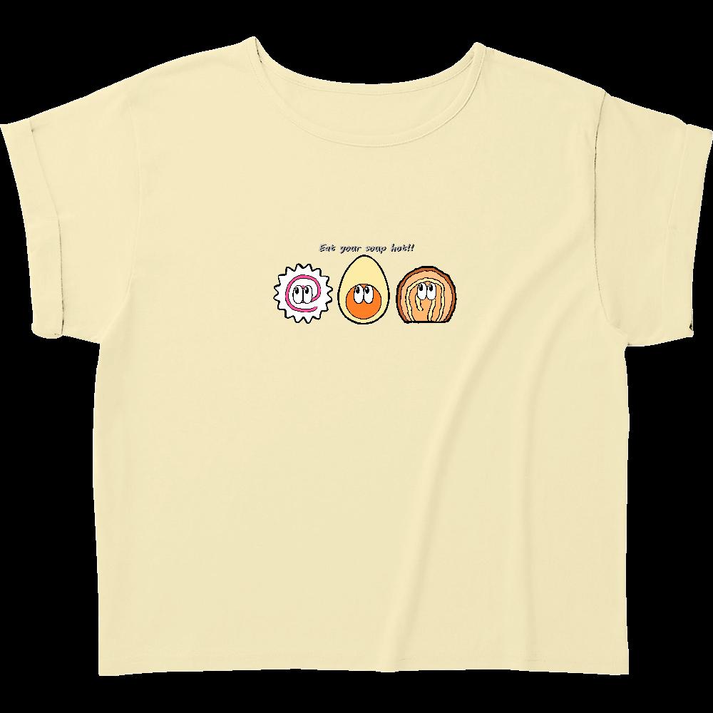 ラーメン/モンスター ウィメンズ ロールアップ Tシャツ
