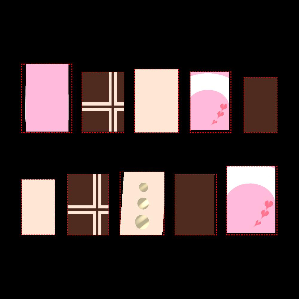 チョコレートコーティング ネイルチップ ネイルチップM