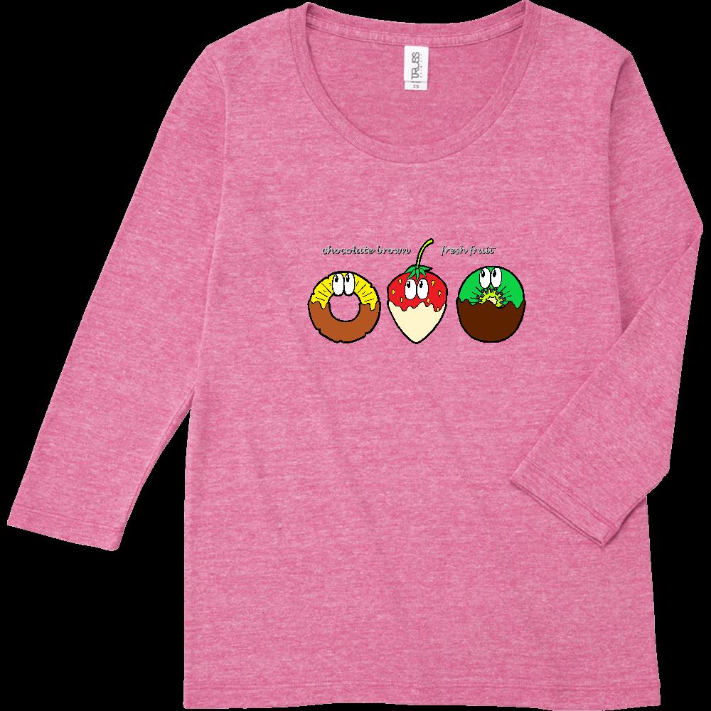 チョコフォンデュ/モンスター トライブレンド7分袖レディースTシャツ