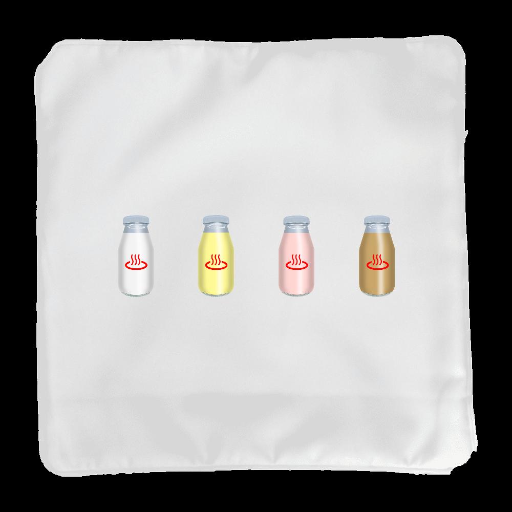 牛乳達 温泉・銭湯バージョン クッションカバー クッションカバー(小)カバーのみ