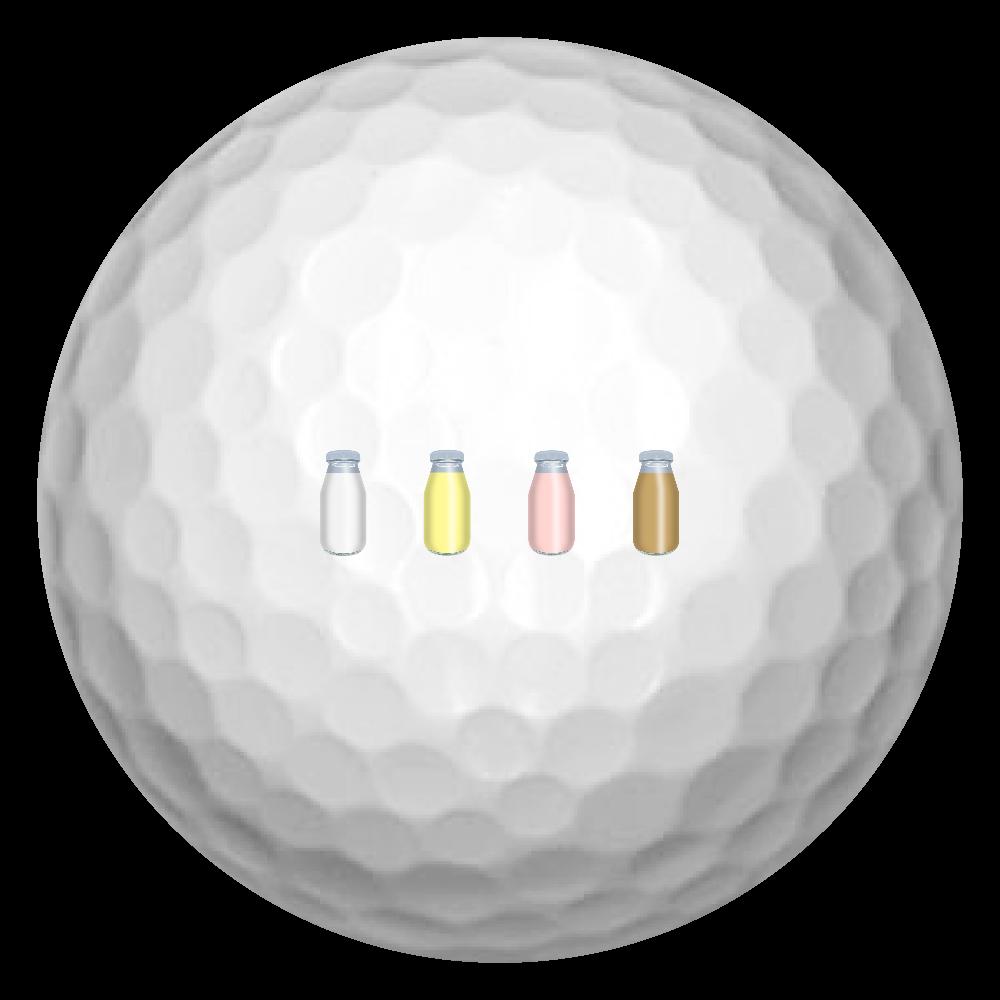 牛乳達-プレーンバージョン ゴルフボール ゴルフボール(3個セット)