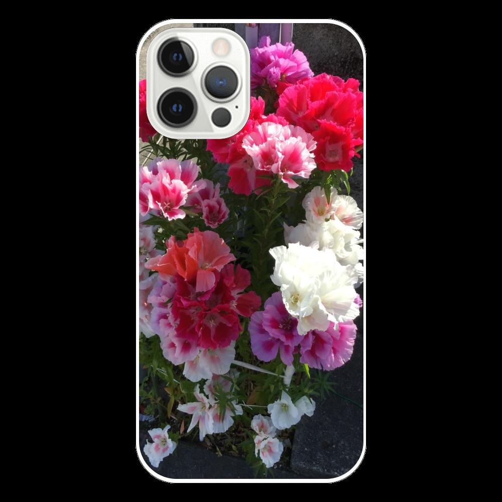 花1の表面のみ印刷iPhone12 Pro(透明)ケース iPhone12 Pro(透明)