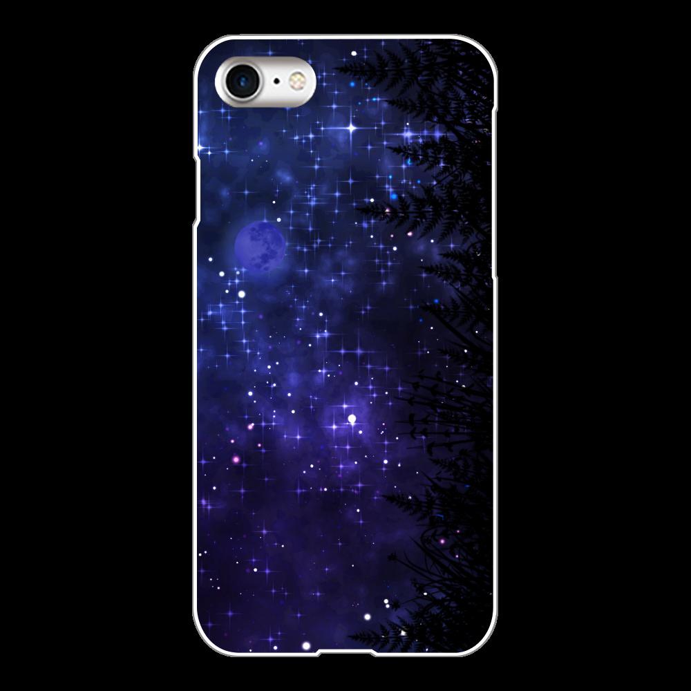 夜空 iPhoneケース 8 iPhone8(白)