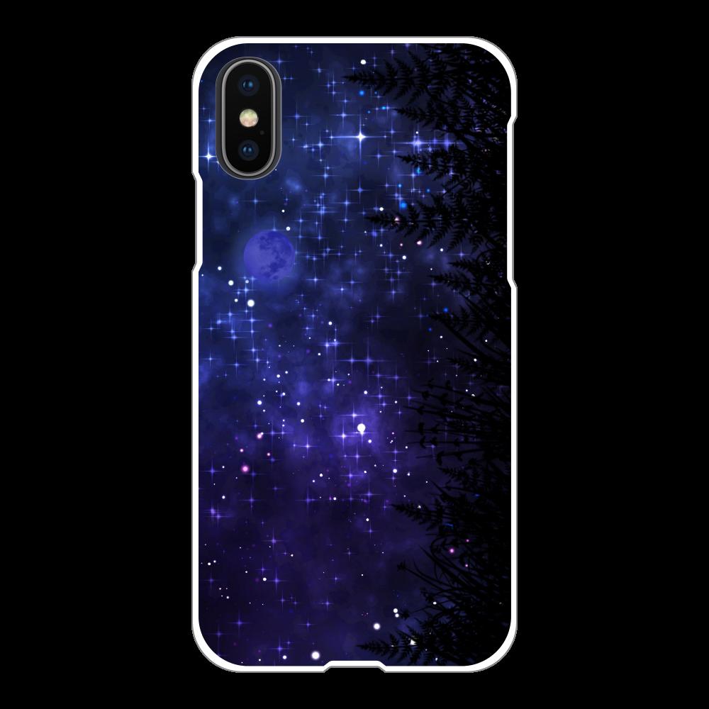 夜空 iPhoneケース X/Xs iPhoneX/Xs(白)