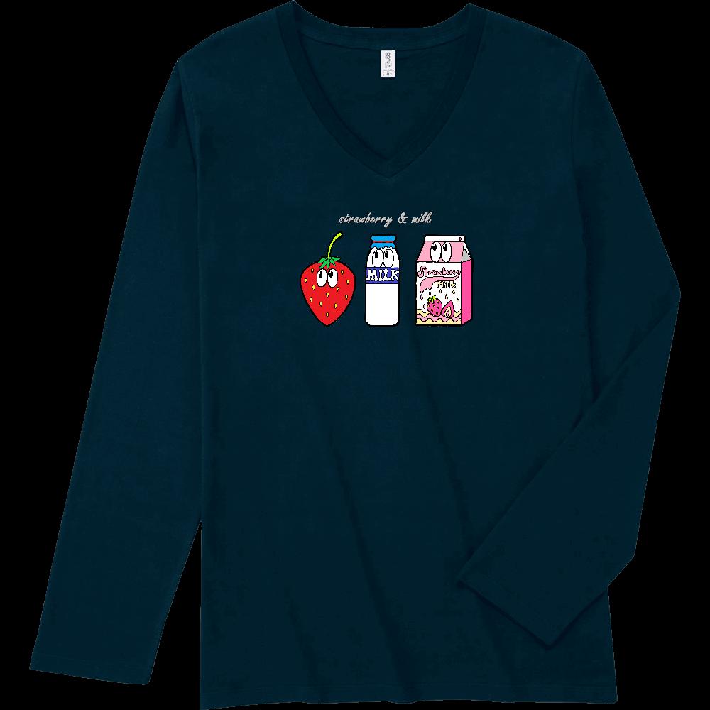 いちごミルク/モンスター スリムフィット VネックロングスリーブTシャツ