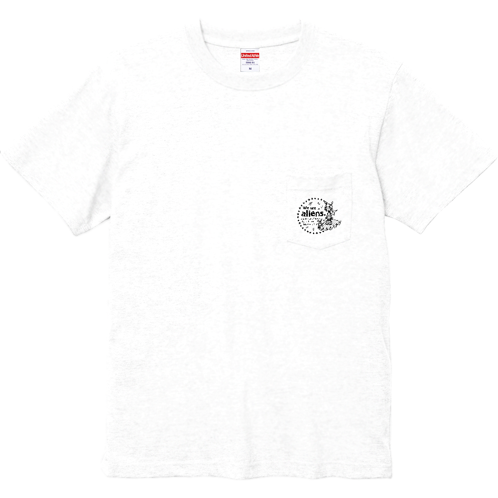 我々は宇宙人だ ハイクオリティーポケットTシャツ ハイクオリティーポケットTシャツ