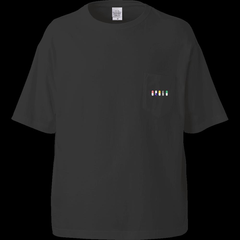 カプセル Tシャツ ビッグシルエットTシャツ(ポケット付)