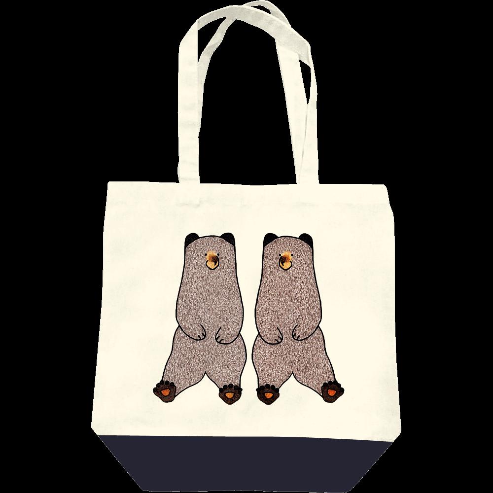 ヒグマのトートバッグ(M) レギュラーキャンバストートバッグ(M)
