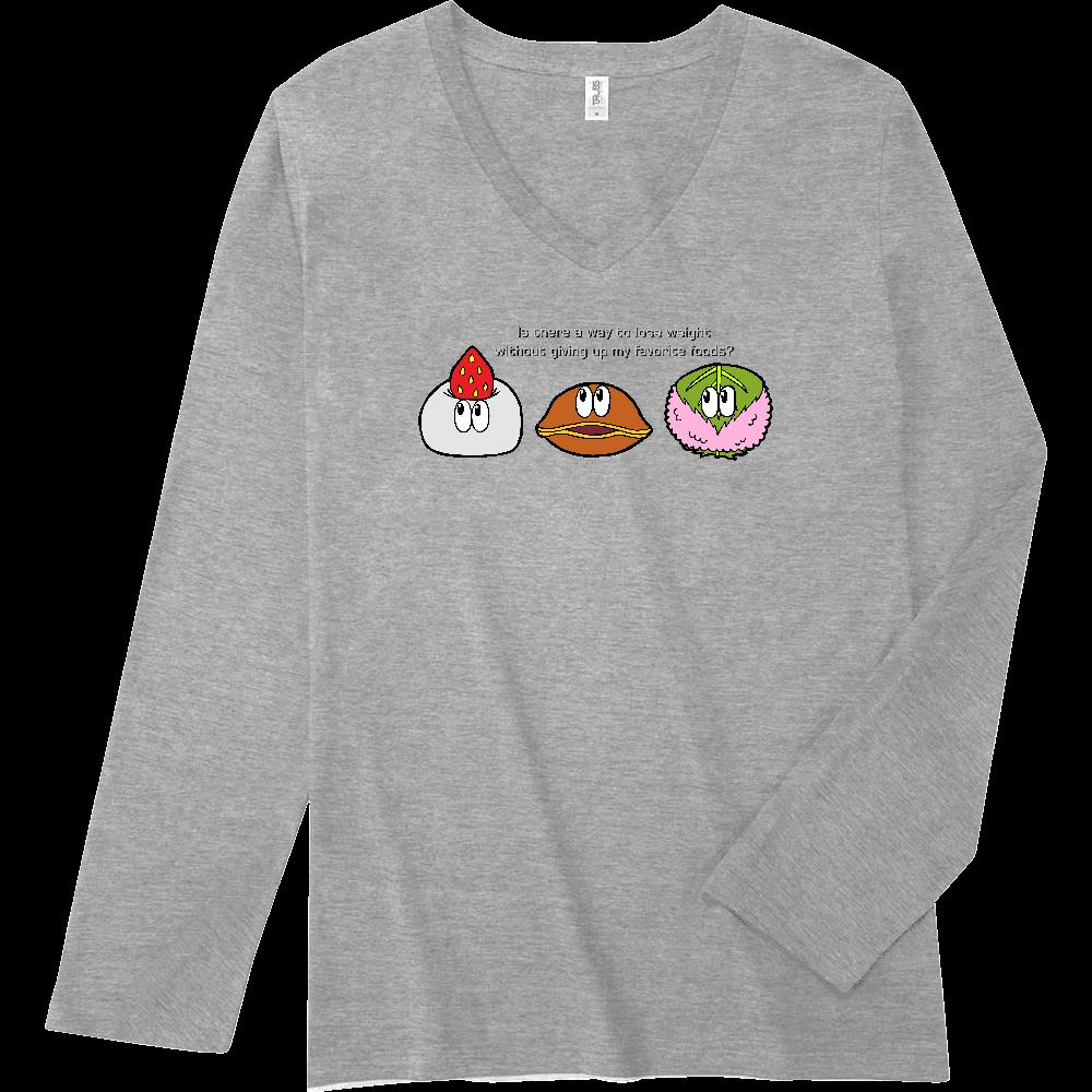 和菓子/モンスター スリムフィット VネックロングスリーブTシャツ