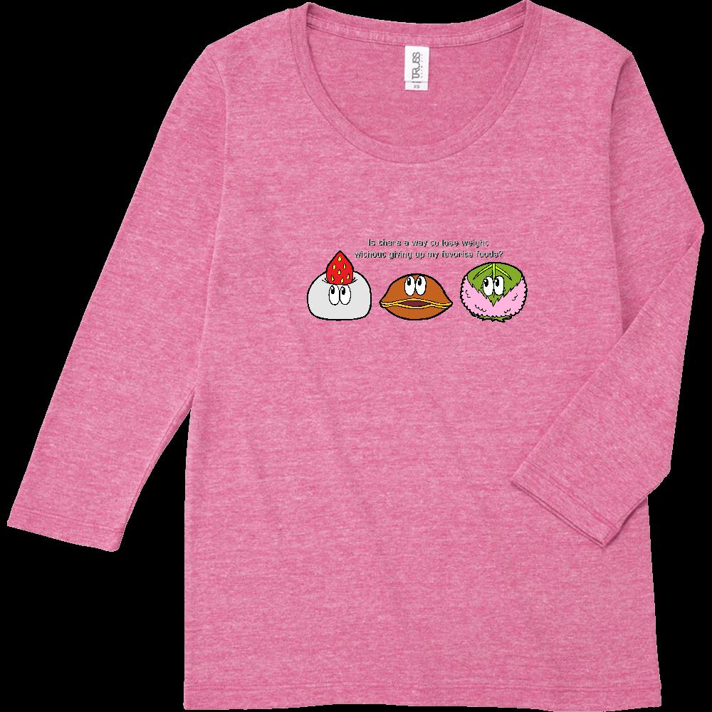 和菓子/モンスター トライブレンド7分袖レディースTシャツ