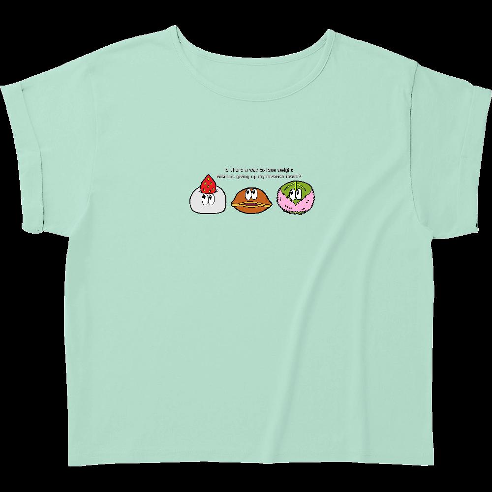 和菓子/モンスター ウィメンズ ロールアップ Tシャツ