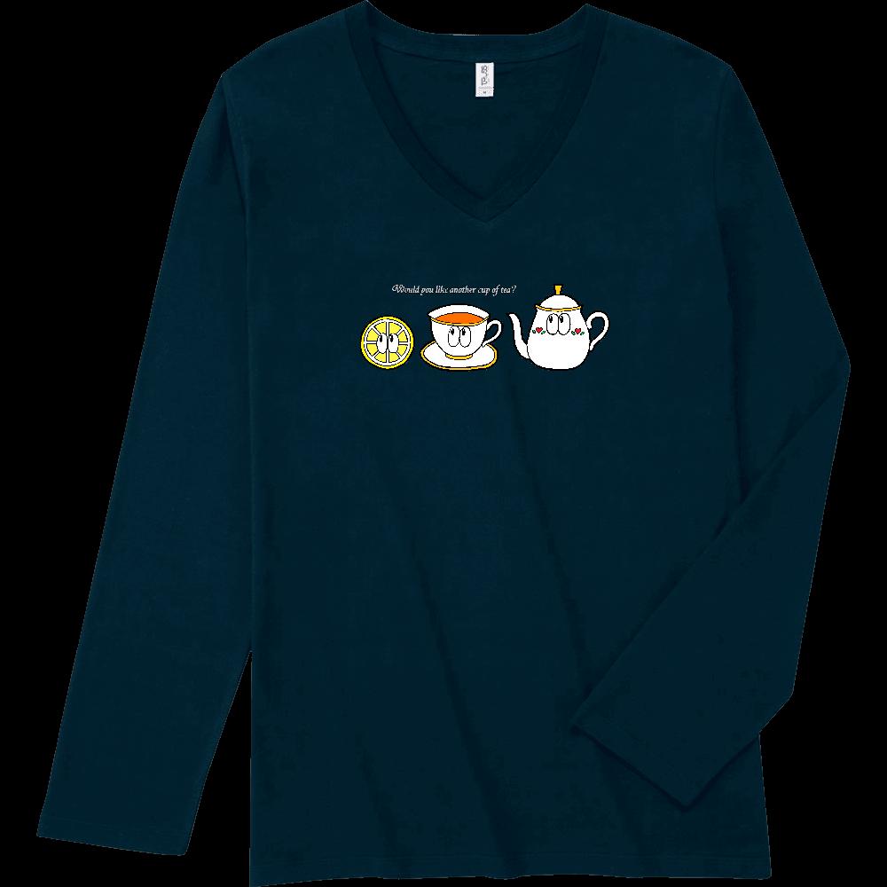 紅茶/モンスター スリムフィット VネックロングスリーブTシャツ