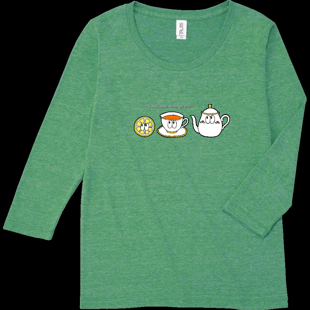 紅茶/モンスター トライブレンド7分袖レディースTシャツ