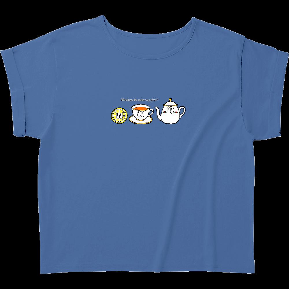 紅茶/モンスター ウィメンズ ロールアップ Tシャツ