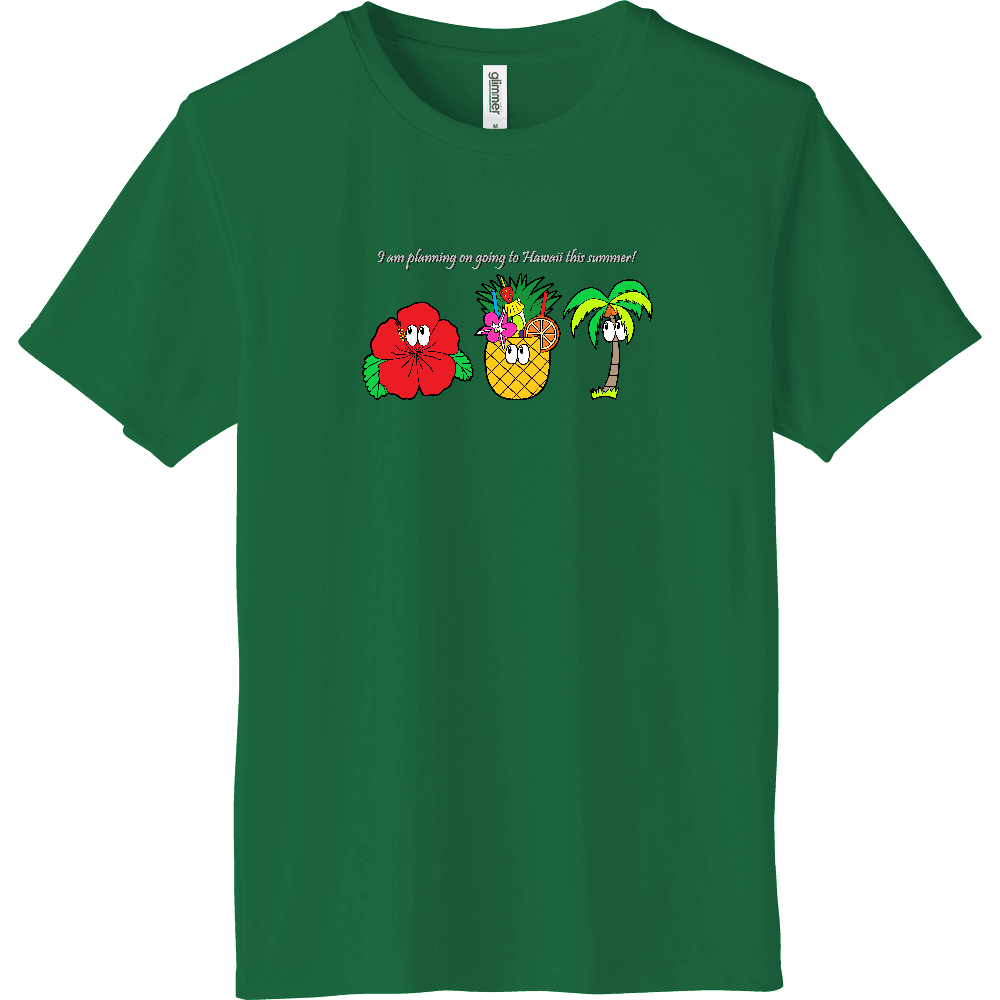 ハワイ/モンスター インターロックドライTシャツ