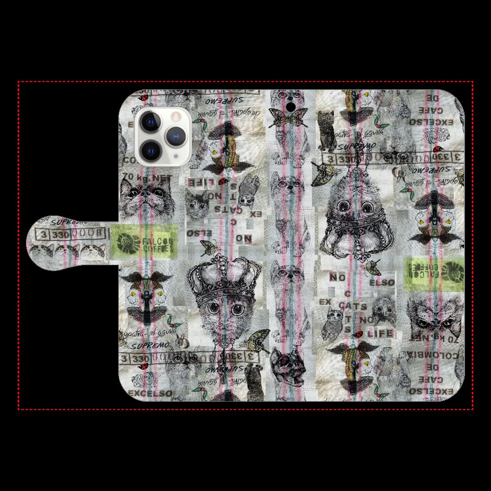ニャンゴロズ iPhone11 Pro 手帳型スマホケース