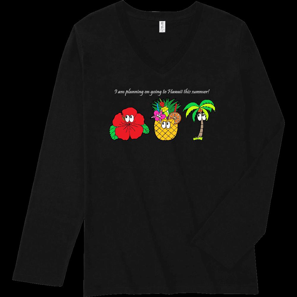 ハワイ/モンスター スリムフィット VネックロングスリーブTシャツ